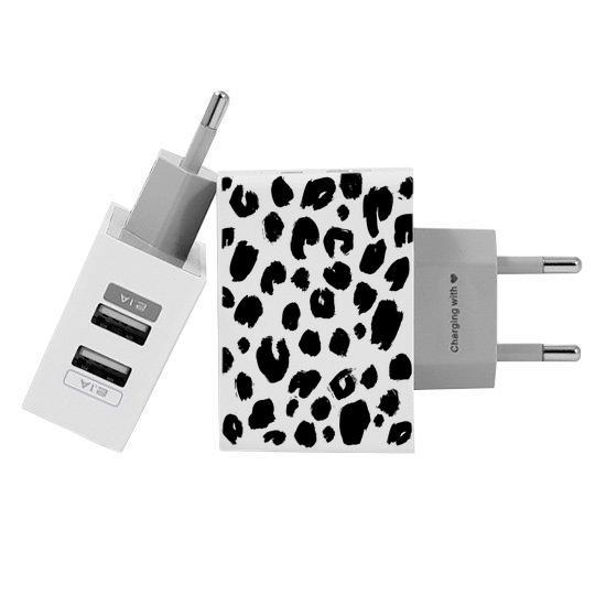 Carregador Personalizado iPhone/Android Duplo USB de Parede Gocase - Manchas