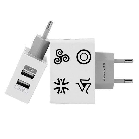 Carregador Personalizado iPhone/Android Duplo USB de Parede Gocase - Símbolos