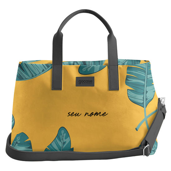 Bolsa de Viagem Joy - Folhas Tropicais Personalizada