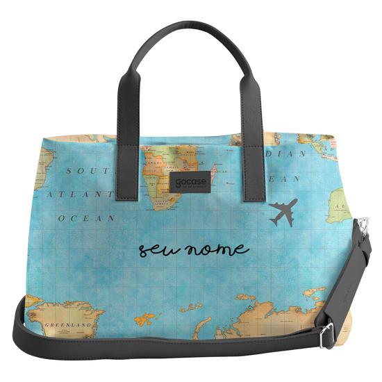 Bolsa de Viagem Joy - Mapa Mundi Manuscrita