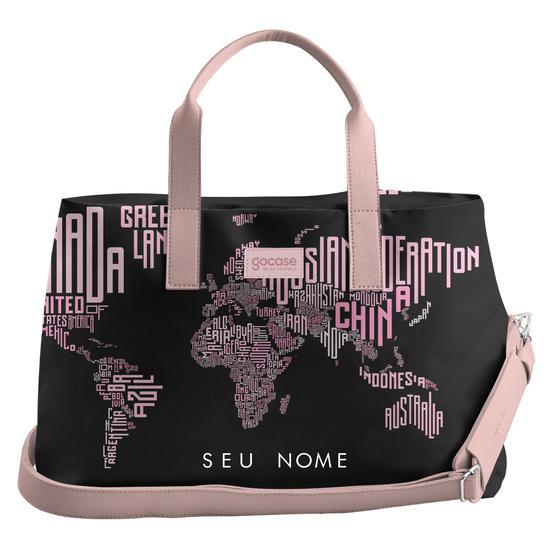 Bolsa de Viagem Joy - Mapa Mundi Nomes Black