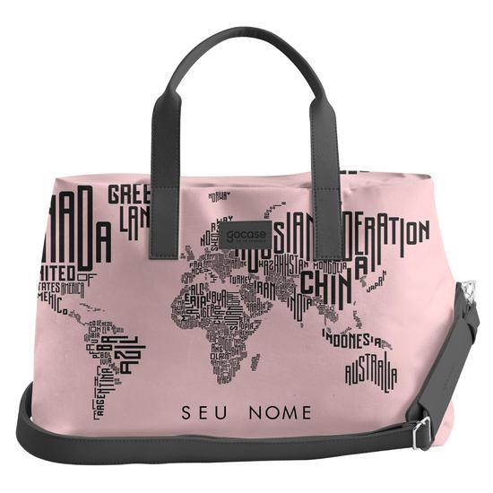 Bolsa de Viagem Joy - Mapa Mundi Nomes