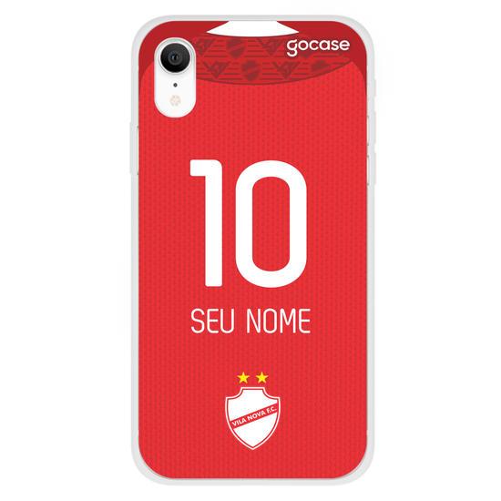 Capinha para celular Vila Nova - Uniforme 1 2020 Personalizado