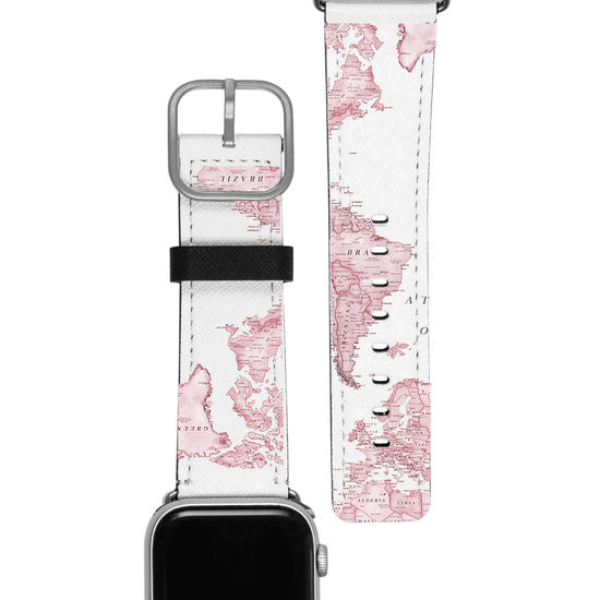 Pulseira Apple Watch - Mapa Rosa
