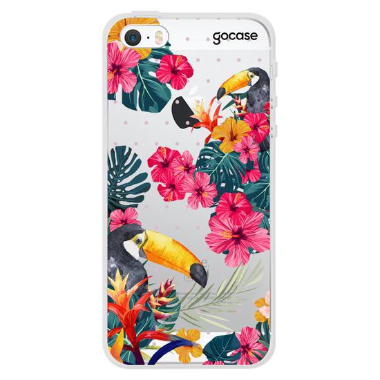 Capinha para celular Tucanos Tropicais