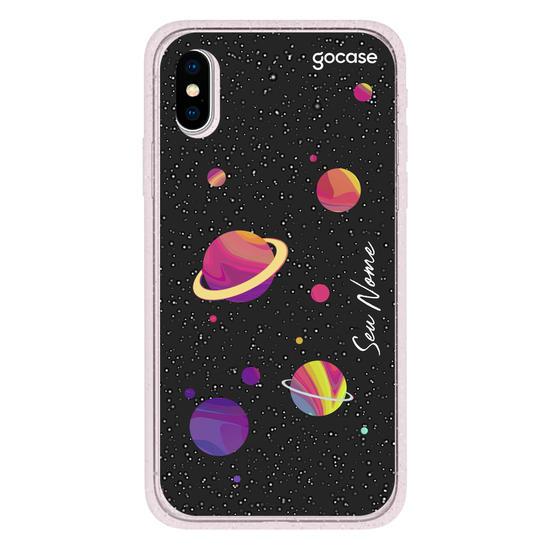 Capinha para celular Universo colorido black