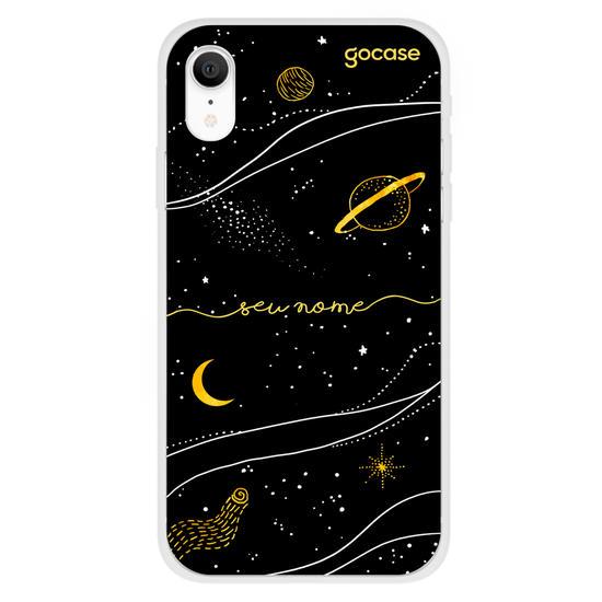 Capinha para celular Universo Dourado Manuscrita
