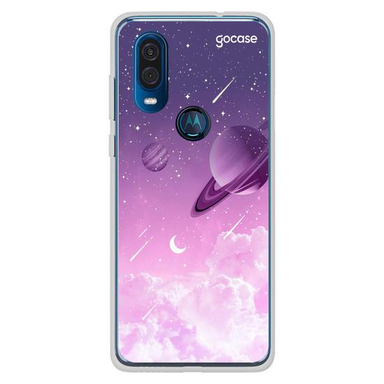 Capinha para celular Universo Purple Manuscrito