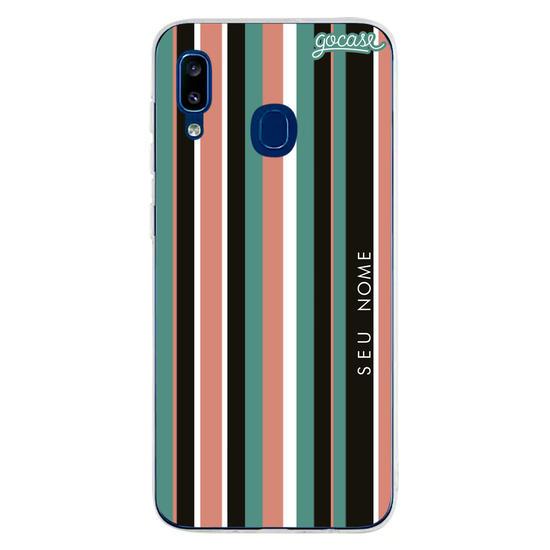Capinha para celular Vintage Stripes Customizável