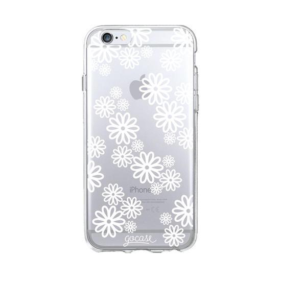 White Flowers Phone Case