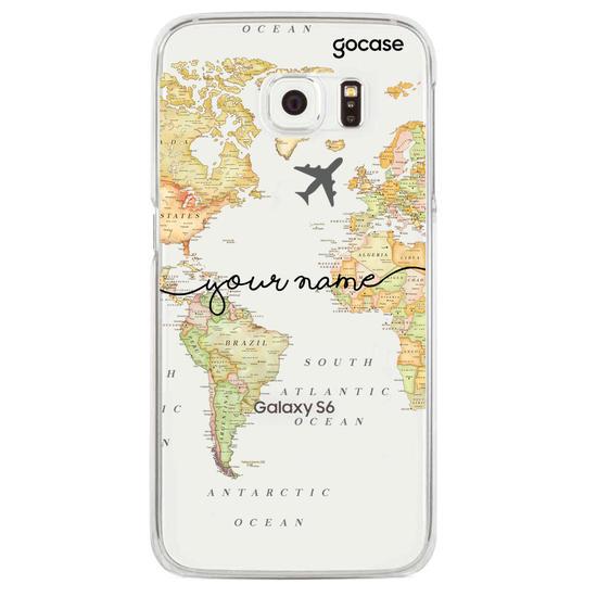 World Map Blank Handwritten Phone Case
