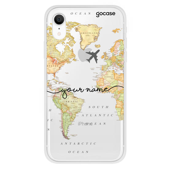 World Map Blank Handwritten Phone Case