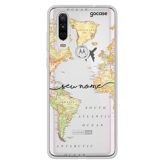 Capinha para celular Mapa Mundi Clean Manuscrita