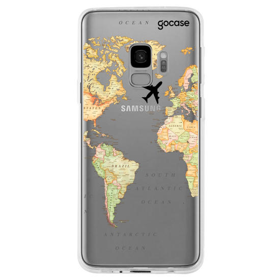 World Map Blank Phone Case
