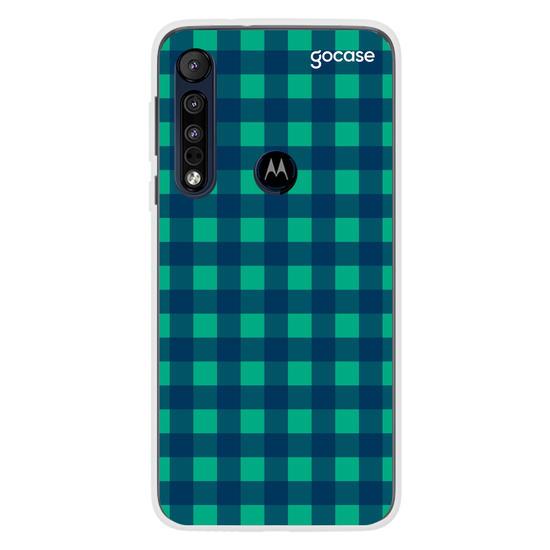 Capinha para celular Xadrez Verde