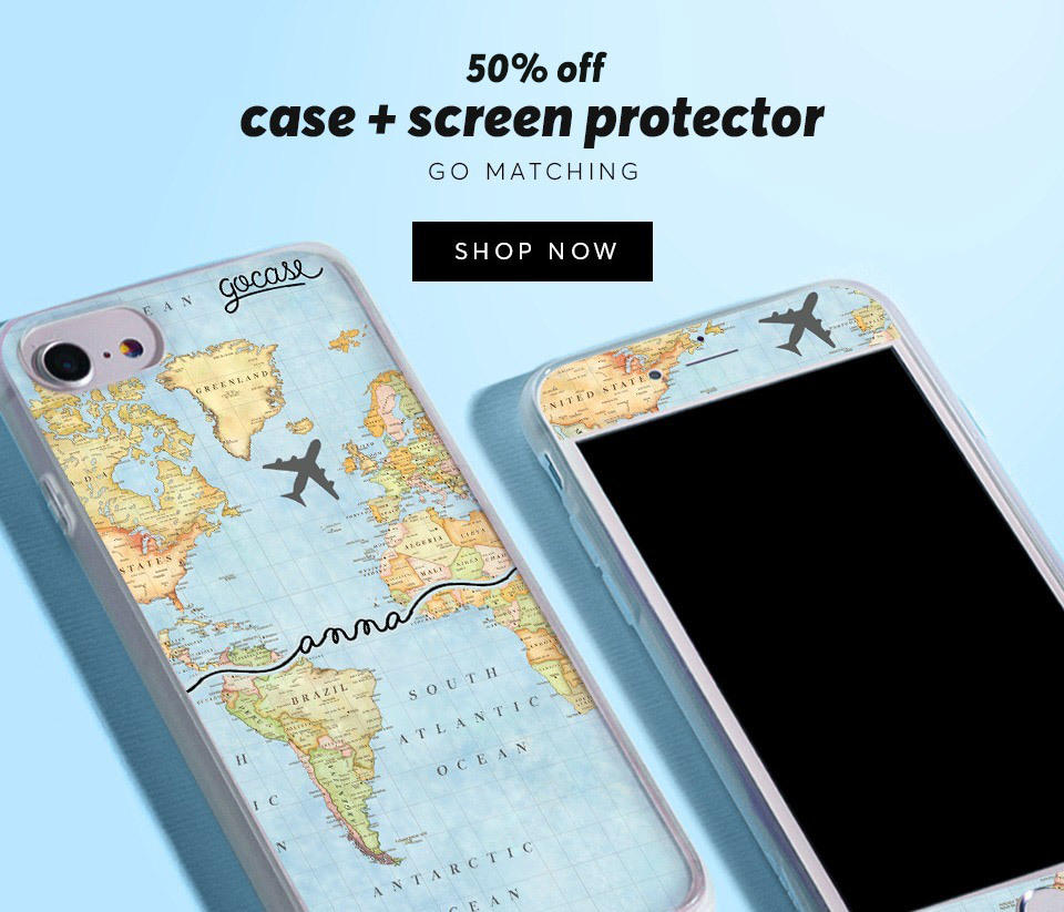 Case + Screen Protector 50% OFF