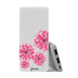Power Bank Slim Portable Charger (5000mAh) - Pink Bubbles