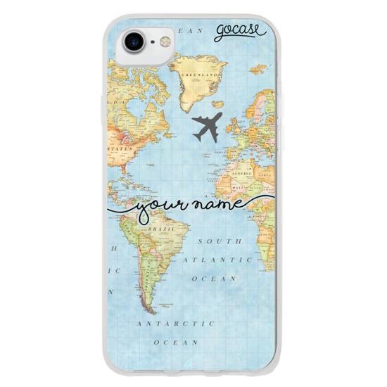 World Map Handwritten Phone Case