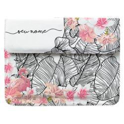 Capa para Notebook - Flamingo e Flores Manuscrita