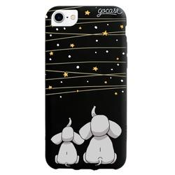 Black Case  Elephants and the Stars  Phone Case