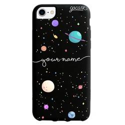 Black Case Planets Handwritten Phone Case