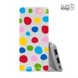 Power Bank Slim Portable Charger (5000mAh) - Happy Bubbles