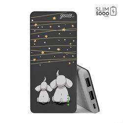 Power Bank Slim Portable Charger (5000mAh) Black - Elephant And The Stars