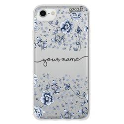 Cover Flower Pattern Blue Handwritten