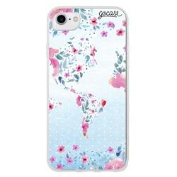 World floral map Phone Case