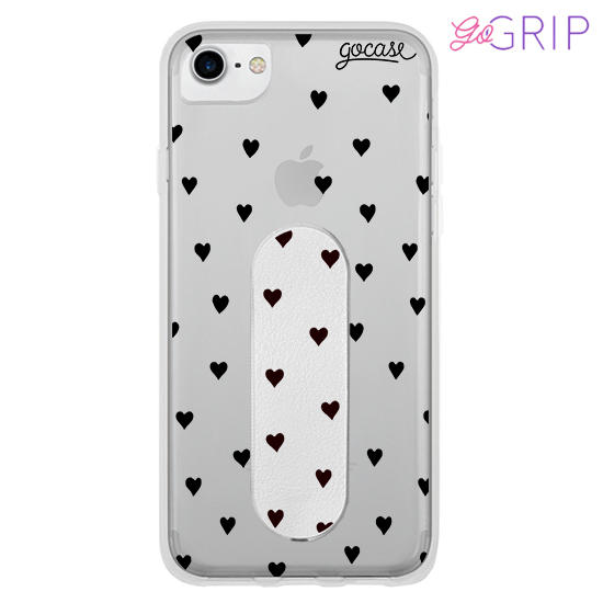 Kit Pattern Black Hearts (Case + GoGrip)