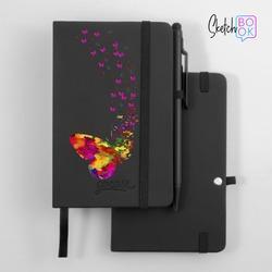 Sketchbook Black - Floating Butterflies