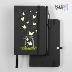 Sketchbook Black - Butterfly Jar