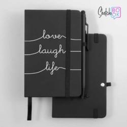 Sketchbook Black - Love Laugh Life