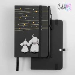 Sketchbook Black - Elephants and the Stars
