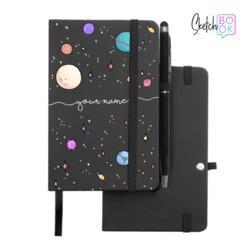 Sketchbook Black - Planets Handwritten