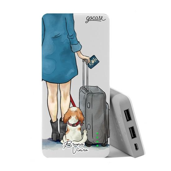 Carregador Portátil Power Bank (10000mAh) - My Travel Dog by Bruna Vieira