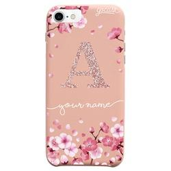 Royal Rose - Cherry Petals Initial Glitter Phone Case