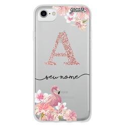 Capinha para celular Flamingo Glitter - Clean