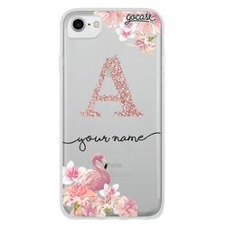 Flamingo - Initials Glitter Phone Case