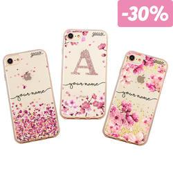 Kit Cases (Hearts Handwritten, Cherry Petals Initial Glitter, Rose Gold Handwritten)
