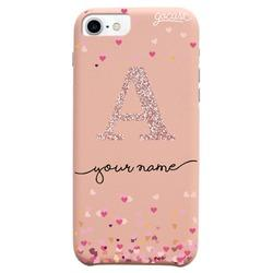 Royal Rose - Hearts Initial Glitter Phone Case