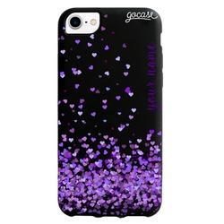 Black Case  Purple Love Phone Case