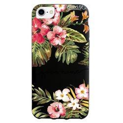 Black Case  Floral Handwritten Phone Case