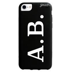 Black Case  Initials - White and Black Phone Case