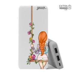 Carregador Portátil Power Bank (10000mAh) - BFF - Floral (Esquerda)
