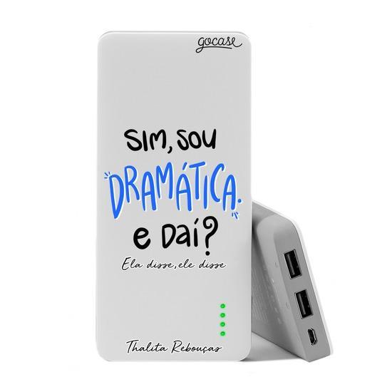 Carregador Portátil Power Bank (10000mAh) - Sou Dramática by Thalita Rebouças