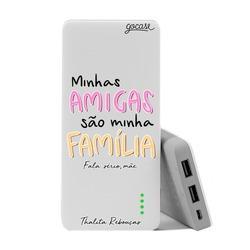 Carregador Portátil Power Bank (10000mAh) - Amigas são Família by Thalita Rebouças