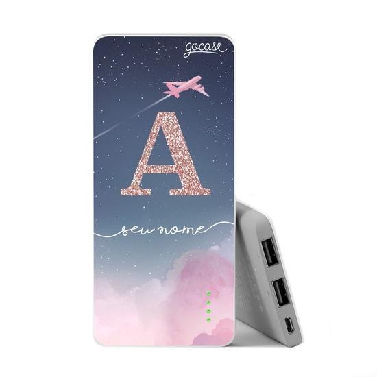 Carregador Portátil Power Bank Slim (5000mAh) - Sweet Travel Glitter