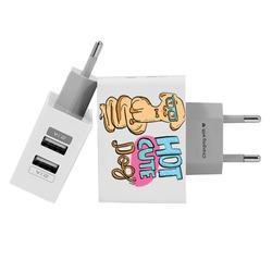 Carregador Personalizado iPhone/Android Duplo USB de Parede Gocase - Hot Cute Dog