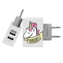 Carregador Personalizado iPhone/Android Duplo USB de Parede Gocase - Marvelous